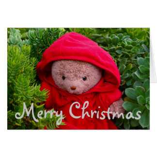 Little Ted Riding Hood Greeting Card