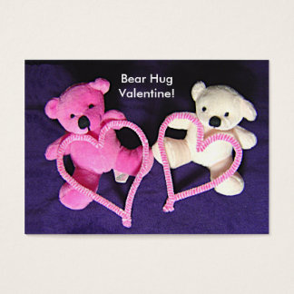 Little Teddy Bears and Hearts Valentine Kids Cards