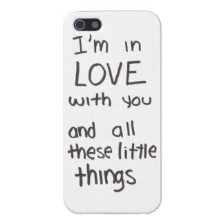Little things lyrics case iPhone 5/5S cover