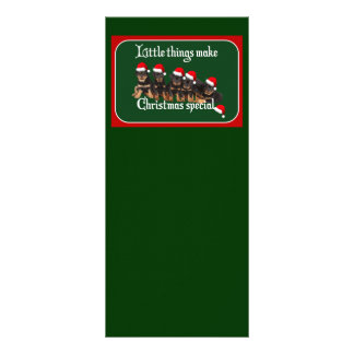 Little Things Make Christmas Special Customized Rack Card