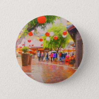 Little Tokyo Japanese village Painting 6 Cm Round Badge