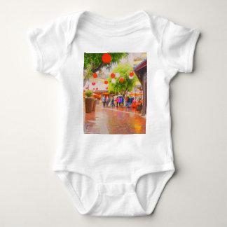 Little Tokyo Japanese village Painting Baby Bodysuit