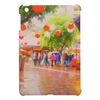 Little Tokyo Japanese village Painting iPad Mini Case