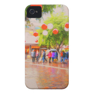 Little Tokyo Japanese village Painting iPhone 4 Case