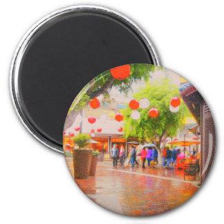 Little Tokyo Japanese village Painting Magnet
