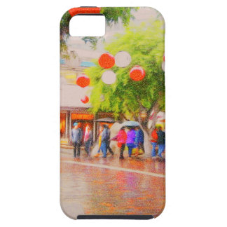 Little Tokyo Japanese village Painting Tough iPhone 5 Case