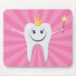 Little tooth fairy on pink sunburst mousepad