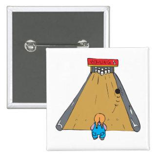 little tot bowling gutter ball 15 cm square badge