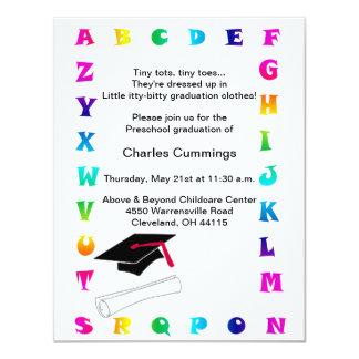 "Little Tots Preschool Graduation Announcement 4.25"" X 5.5"" Invitation Card"