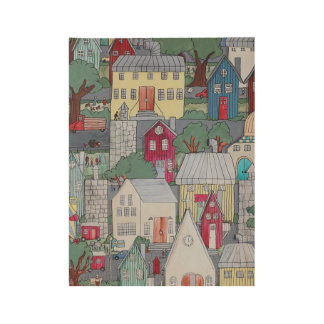 Little Town Poster Print Wood Poster