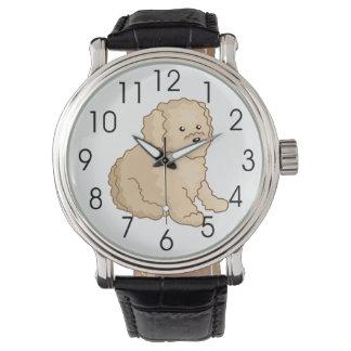 Little Toy Poodle Illustration Watch
