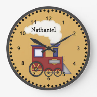 Little Train Engine Wall Clock