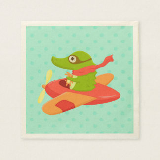 Little Travelers: Crocodile napkin Paper Napkin