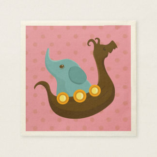 Little Travelers: Elephant napkin Disposable Napkin