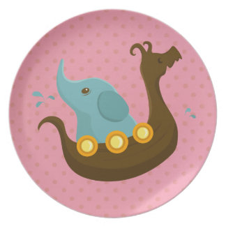 Little Travelers: Viking Elephant plate