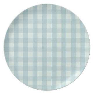 Little Travellers Blue Checked Plate