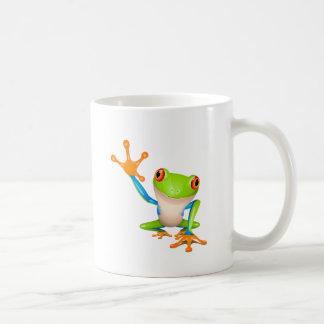 Little tree frog basic white mug