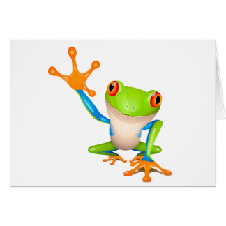 Little tree frog card