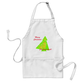 Little tree with a christmas tree artwork on apron
