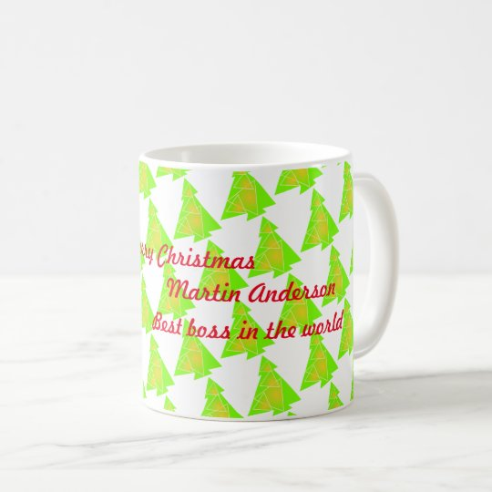 Little tree with a christmas tree artwork on  mug