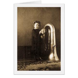 Little Tuba Girl Card