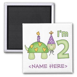 Little Turtle 2nd Birthday Magnet