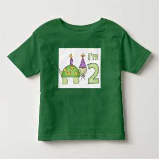 Little Turtle 2nd Birthday Toddler T-Shirt