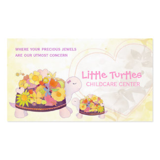 Little Turtles Childcare or Daycare Business Cards