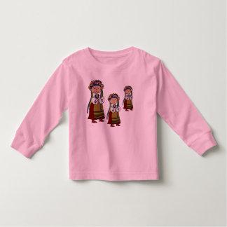 Little Ukrainian Dancer Ukrainian Folk Art Tee Shirts
