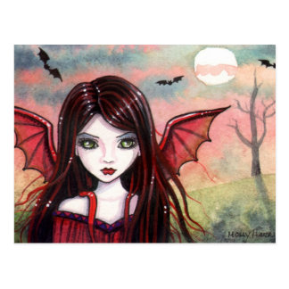 Little Vampire Postcard by Molly Harrison