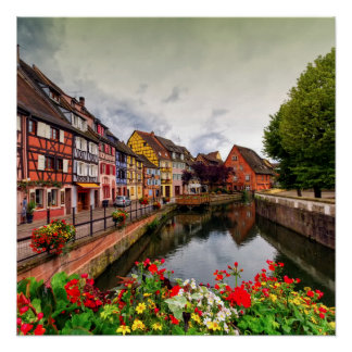 Little Venice, petite Venise, in Colmar, France
