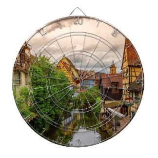 Little Venice, petite Venise, in Colmar, France Dartboard