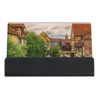 Little Venice, petite Venise, in Colmar, France Desk Business Card Holder