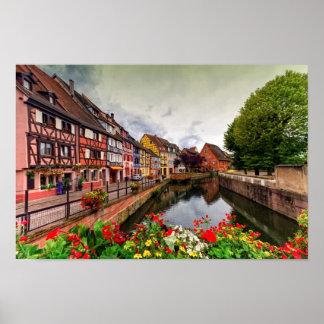 Little Venice, petite Venise, in Colmar, France Poster