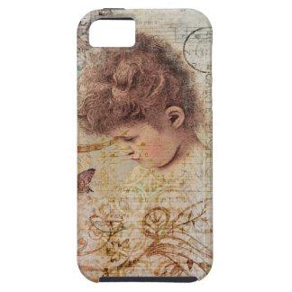 Little Vintage Girl Swirls Postage Artwork iPhone 5/5S Case