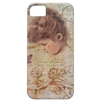 Little Vintage Girl Swirls Postage Artwork iPhone 5 Covers