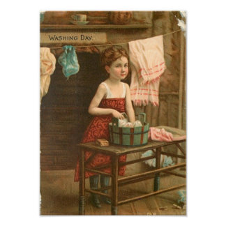 Little Wash Girl Poster