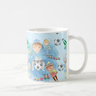 Little Watercolor Boy Print White White Mug