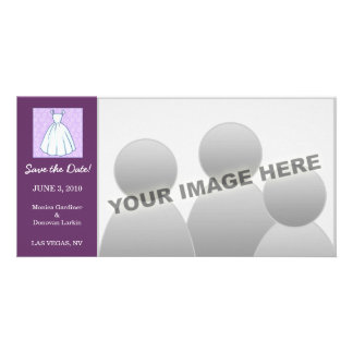 Little Wedding Dress Save the Date Customized Photo Card