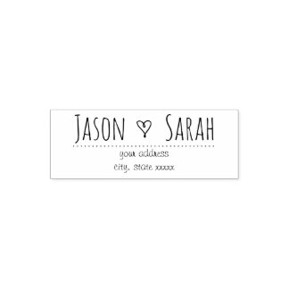 little wedding heart decor self-inking stamp