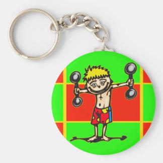 Little Weightlifting Boy Key Chain