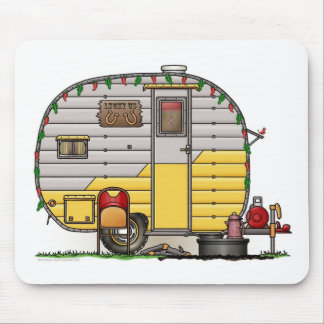 Little Western Camper Trailer Mouse Pad