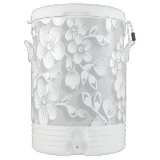 Little White Flowers Drinks Cooler
