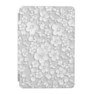 Little White Flowers iPad Mini Cover
