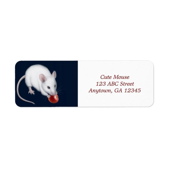 Little White Mouse Avery Label