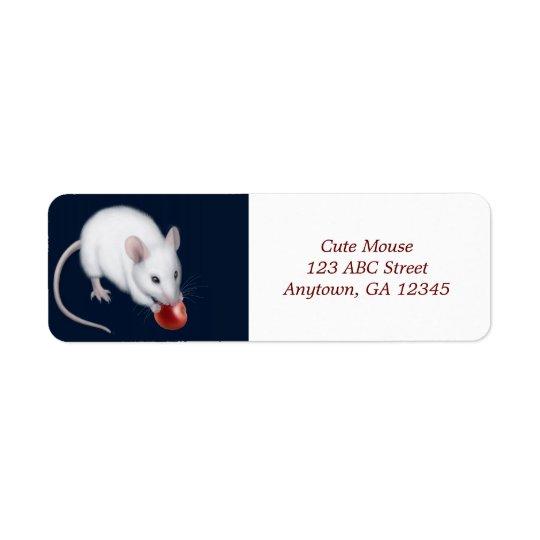 Little White Mouse Avery Label Return Address Label