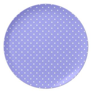 Little White Polka Dots Dinner Plates
