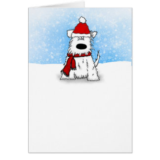 Little White Puppy Dog Happy Holidays Card