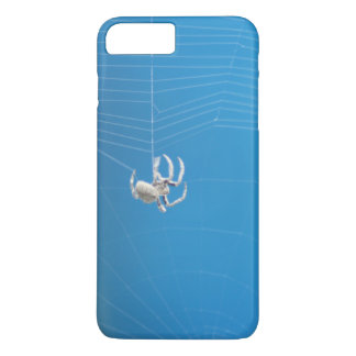 Little White Tan Spider Spinning a Web iPhone 7 Plus Case