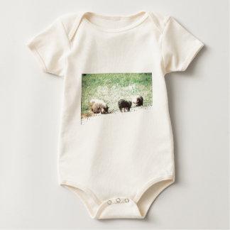 Little Wild Pigs Sketch Baby Bodysuits